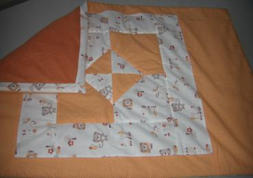 Babykrabbeldecke Orange Teddy